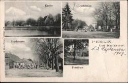 ! Alte Ansichtskarte Aus Perlin Bei Renzow, Mecklenburg, Kirche, Forsthaus, Dorfstrasse - Deutschland