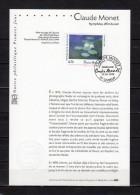 """★ Notice Philatélique 1er Jour De 1999 """" NYMPHEAS, EFFET DU SOIR De CLAUDE MONET """". N° YT 3247 + Prix Dégre - Documents Of Postal Services"""