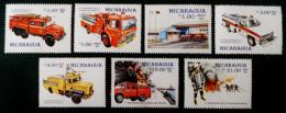 FONDATION SINACOI LUTTE CONTRE L´INCENDIE 1985 - NEUFS ** - YT 1379/81 + PA 1116/19 - MI 2614/20 - Nicaragua