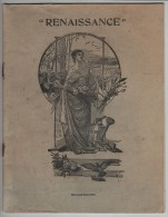 """CAHIER D´ ÉCOLIER - Neuf -  """"Renaissance"""" - Dessin De La Couverture En Carton, De Louis Beuzon - 3 Scannes. - Altre Collezioni"""