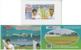 India  2014  Cricket Stamp Booklet   Sachin Tendulkar # 81478 Inde  Indien - Cricket
