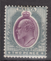 MALTA  1904  KEVII   2 P    MH - Malta