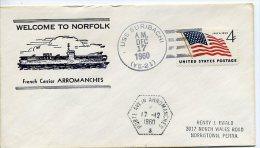 Porte-Avions ARROMANCHES - Welcome To Norfolk - USS Suribachi 1960 - Marcophilie (Lettres)