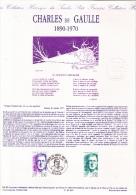 Document Philatélique Officiel Premier Jour, Charles De Gaulle (1890-1970), 1990 - De Gaulle (Général)