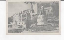 CPSM-MONACO-1947-LE PALAIS DU PRINCE-MONUMENT COMMEMORATIF DE 25 ANS D'ALBERT 1 Er - Fürstenpalast