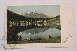 Postcard Switzerland - Sankt Moritz Bad U. Piz La Marga - Circulated - Edited Gebr. Wehrli, Kilchberg - L Glaser Leipzig - GR Grisons
