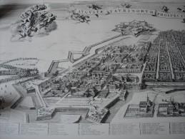Duitsland Prachtige Herdruk Van Middeleeuws Stadsplan Dusseldorf Thomas Borgenius Sr - Karten