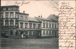 ! 1903 Alte Ansichtskarte Halle A.d. Saale ,  Mühlweg , Heckerts Conditorei Und Cafe - Halle (Saale)