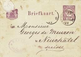 IPE026 2,5 Cent. NEDERLAND 1880 Postal Stationary To Switzerland - Postal Stationery