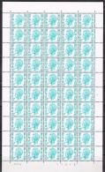 Année 1972 - COB 1648**  - SM Le Roi Baudouin 12F  Vert-bleu (pl 4)  - Cote 42,50 € - Fogli Completi
