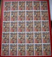 Année 1979 - COB 1933** Avec 1933-V1** Millénaire De Bruxelles - Tapisserie  8F + 3F  - Cote 26,00 € - Fogli Completi