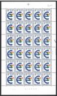 Année 1979 - COB 1924** - 1e Election Parlement Européen - 8F (pl 2) - Cote 18,00 € - Fogli Completi