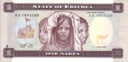 ERYTREE   1 Nafka  Emission Du 24-05-1997   Pick 1    ***** BILLET  NEUF ***** - Erythrée