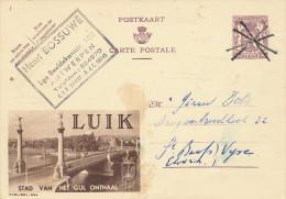 235/22 - Annulation Par CROIX De ST ANDRE Sur Timbre Entier Publibel ANTWERPEN 1952 Vers ST BAAFS VIJVE - - Entiers Postaux