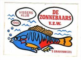 AUTOCOLLANT  STICKER  'S-GRAVENWEZEL  VISSERSKLUB DE ZONNEBAARS - Aufkleber