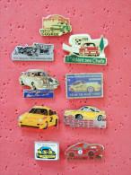 Lot De 9 Pin's Porsche Rallye, , Motorsport A Voir - Porsche