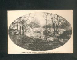 USA - New York Botanical Garden - Bronx Park - Rubble  Stone Bridge ( The Alberttype Co) - Bronx