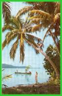 TAHITI- Pour Grimper Aux Cocotiers,personne N´est Plus Expert Que Le Tahitiens.(recto Verso) - Polynésie Française