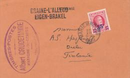 246/22 - Griffe BRAINE L´ ALLEUD Sur Carte Privée Vers Finlande- TP Houyoux MARIEMBOURG 1928 - Origine MATAGNE LA GRANDE - Poststempel