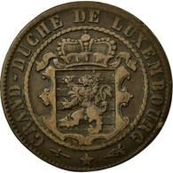 Monnaie, Luxembourg, William III, 10 Centimes, 1870, Utrecht, TB+, Bronze - Luxembourg