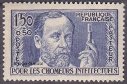 France N°  333 ** Célébrité - Pour Les Chômeurs Intellectuels - 1ère Série - Louis Pasteur - Unused Stamps