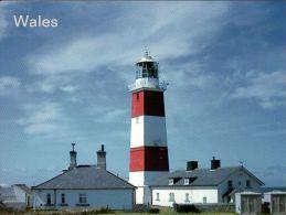 1 AK Wales * Leuchtturm Auf Der Insel Bardsey * - Galles