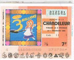 Billets De Loterie.. CHANDELEUR .1981. TTBE....LO418 - Billets De Loterie