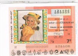 Billets De Loterie.. SAINTE CATHERINE .1980. TTBE....LO416 - Billets De Loterie