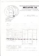 2 Enveloppes MECAPHIL 92 Mecanisation Postale Et Philatelique Fos Sur Mer + Bon De Commande - Marcophilie (Lettres)