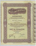 La West Continentale Sa à Luxembourg - Banque & Assurance