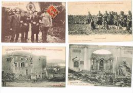 La Guerre En Lorraine -4 Cpa Rozelieures-Badonviller-Plateau De Malzéville-le Père Et Ses 3fi  -voir Scan Et Description - Lorraine