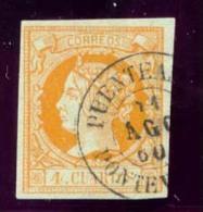Año 1860 Edifil 52 4c Isabel II  Matasellos  Puenteareas Pontevedra  Tipo II - 1850-68 Royaume: Isabelle II