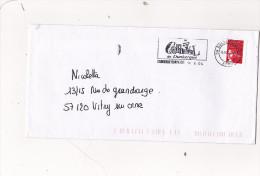 Enveloppe Avec FLAMME CARNAVAL DE DUNKERQUE Obliteration Mecanique - Marcophilie (Lettres)
