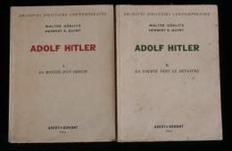 Guerre 39-45 WW2 NN ADOLF HITLER Walter GÖRLITZ Herbert A. QUINT 1953 2volumes - 1939-45