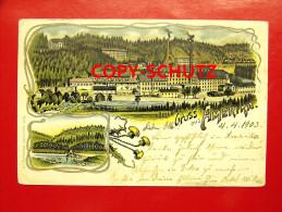 AMERIKA Penig - Litho - Fabrik Brücke - 1903 - Non Classés