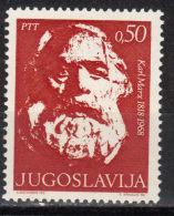 Yugoslavia,100 Years Of Birth Carl Marx 1968.,MNH - 1945-1992 Socialist Federal Republic Of Yugoslavia