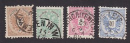 Austria, Scott #41-44, Used, Coat Of Arms, Issued 1883 - Usati
