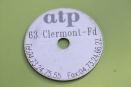 """Jeton Publicitaire """"Société ATP"""" à Clermont-Ferrand - 63 Puy-de-Dôme - Professionali / Di Società"""