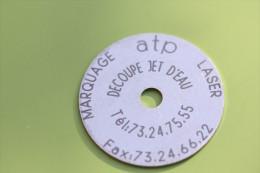 """Jeton Publicitaire """"Société ATP"""" à Clermont-Ferrand - 63 Puy-de-Dôme - Firma's"""
