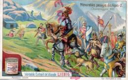CHROMO - LIEBIG - MEMORABLES PASSAGES DES ALPES 2- CHARLEMAGNE 800- FRAY BENTOS URUGUAY- COLON ARGENTINE - Liebig