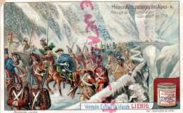 CHROMO - LIEBIG - MEMORABLES PASSAGES DES ALPES 4- PASSAGE DU ST GOTHARD SOUVAROFF- FRAY BENTOS URUGUAY- COLON ARGENTINE - Liebig