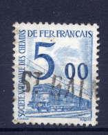 """""""St Galmier""""--42--griffe Horizontale Ou Linéaire Sur Timbre Pour Colis Postaux--n°45  5F Bleu Oblitéré - 1921-1960: Période Moderne"""