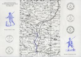 BALE - RIQUEWIHR - DOCUMENT PHILATELIQUE LIAISON POSTALE PEDESTRE JUILLET 1971 - VOIR DESCRIPTION - - Variétés Et Curiosités