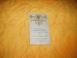 CARTE DE BAL ANCIEN DE 1721. / 13E FETE ANNUELLE DE L'UNION MUTUELLE DES METREURS & EMPLOYES EN COUVERTURE.../ AU PALAIS - Programas