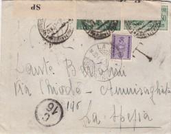 1941 - FRATELLANZA D'ARMI CENT. 25 IN COMPLEMENTO SU ESPRESSO TASSATO - S2082 - Poststempel