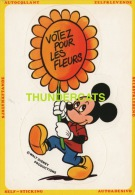 CPA ILLUSTRATEUR  DESSIN MICKEY MOUSE  WALT DISNEY PRODUCTIONS EDITIONS CORNA STICKER AUTOCOLLANT - Disney
