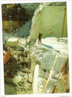 Cpsm Italie Ouvriers Marbrières - Carrara