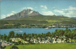 PostkaartZwitserland  116  Zeltplaz Lido Luzern - Non Classés