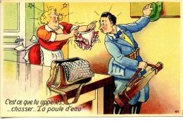 C´est Ce Que Tu Appelles..chasser.. La Poule D´eau   ... - Künstlerkarten