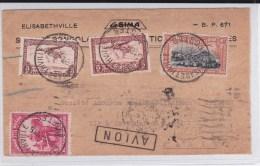 1936 - CONGO BELGE - ENVELOPPE Par AVION De ELISABETHVILLE Pour PARIS
